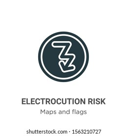 Electrocution risk vector icon on white background. Flat vector electrocution risk icon symbol sign from modern maps and flags collection for mobile concept and web apps design.
