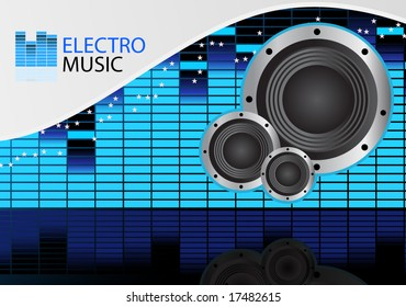 Electro/Dance music vector background