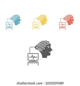 Electroencephalography . Flat Icon Isolated. Vector illustration.