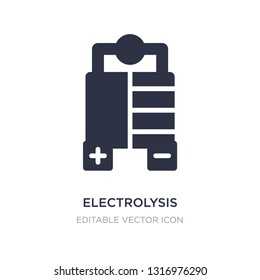 electrolysis icon on white background. Simple element illustration from Industry concept. electrolysis icon symbol design.