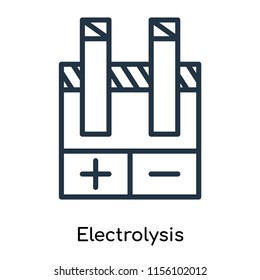 Electrolysis icon vector isolated on white background, Electrolysis transparent sign , thin symbols or lined elements in outline style
