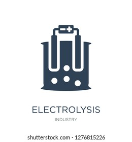 electrolysis icon vector on white background, electrolysis trendy filled icons from Industry collection, electrolysis vector illustration