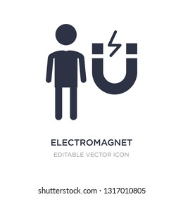 electromagnet icon on white background. Simple element illustration from People concept. electromagnet icon symbol design.