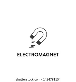 electromagnet icon vector. electromagnet vector graphic illustration