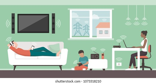Electromagnetic fields in the home and sources: people living in their house and EMFs emitted by appliances and wireless devices