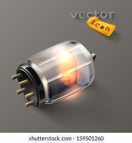 Electron tube icon