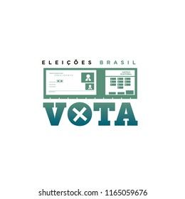Electronic ballot icon for elections in Brazil 2018
