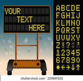 electronic bulletin board, put your own text here