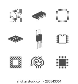 Electronic chip icons