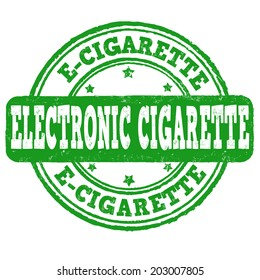 Electronic Cigarette Grunge Rubber Stamp On White Vector Illustration