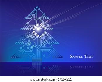 Electronic Circuit Christmas Tree