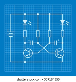 electronic circuit scheme blueprint background