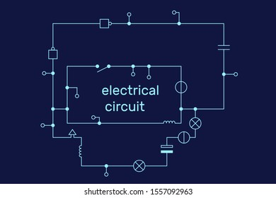 Electronic circuit scheme. Technology concept. Vector illustration.