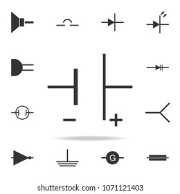 Electronic circuit symbol icon. Detailed set of web icons. Premium quality graphic design. One of the collection icons for websites, web design, mobile app on white background