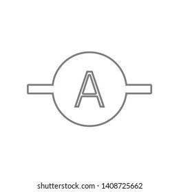 Electronic circuit symbol icon. Element of web for mobile concept and web apps icon. Outline, thin line icon for website design and development, app development