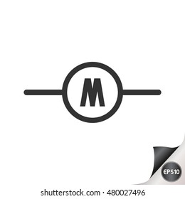 electronic circuit symbols volt meter stock vector royalty free rh shutterstock com motor control wiring diagram symbols motor circuit symbols