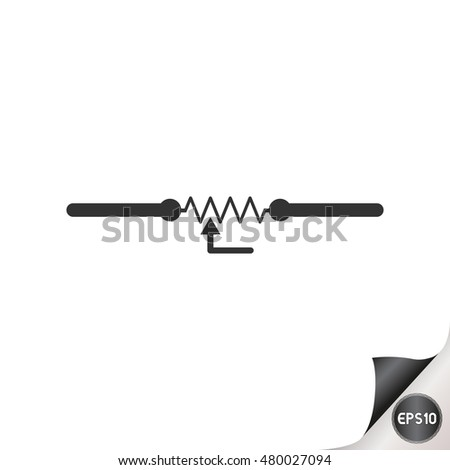 Electronic Circuit Symbols Variable Resistor Stock Vector Royalty
