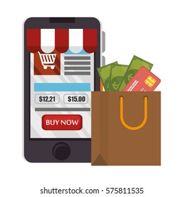 electronic commerce business icon