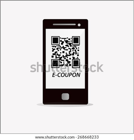 Electronic Coupon Code On Mobile Phone Stock Vector Royalty Free