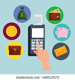 electronic dataphone technology to online banking with credit card