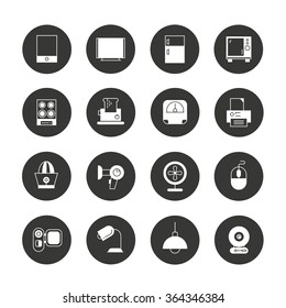electronic device icons and home appliance icons