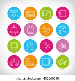 electronic device icons, home appliance icons