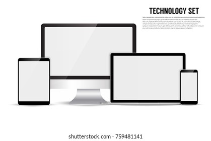 Electronic device isolated on white background. Vector illustration EPS10