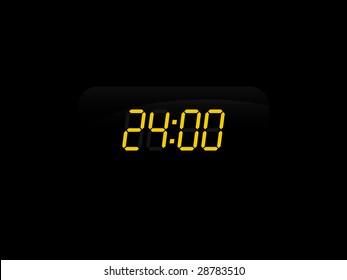 Electronic Display Showing 24:00