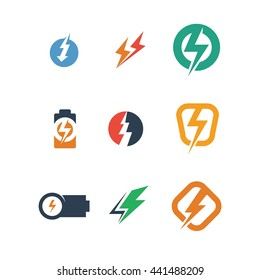 Electronic Electricity Power Energy Volts Logo Icon Vector
