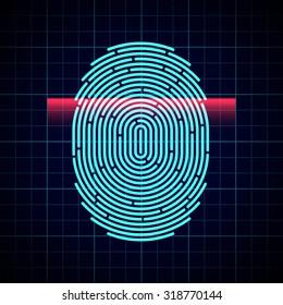 Electronic fingerprint scan