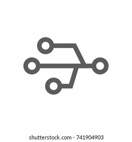 Electronic icon in trendy flat style isolated on white background. Symbol for your web site design, logo, app, UI. Vector illustration, EPS