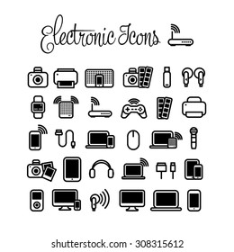 Electronics Icons Images Stock Photos Vectors Shutterstock