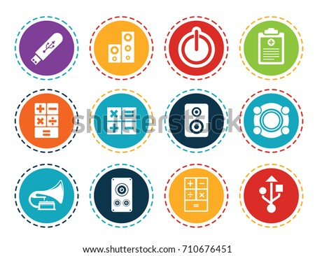 Electronic Icons Stock Vector Royalty Free 710676451 Shutterstock