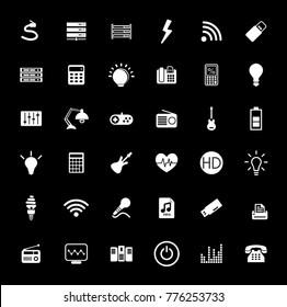 Electronic icons set