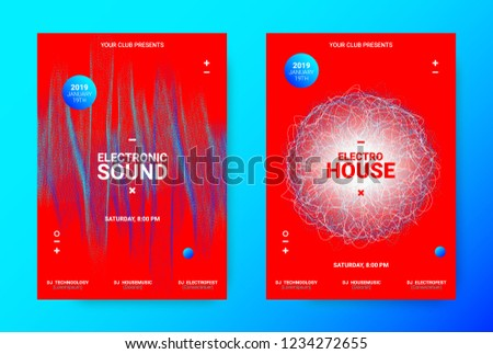 Electronic Night Party Promotion Music Poster Stock Vector (Royalty