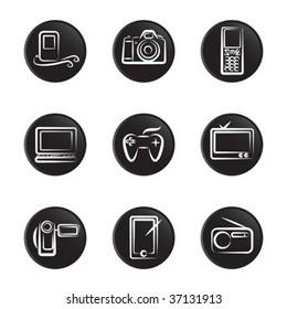 electronic object icon set 2