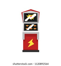 Electronic slot virtual game machine vector Illustration on a white background
