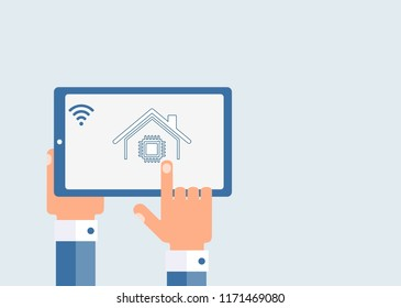 Electronic smart house. Control.