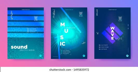 Electronic Sound Waves. Audio Circle. Vibrant Music Minimal. Vibrant Dj Flyer. Color Gradient Banner. Night Club. Color Flyer Dj. Electronic Background.