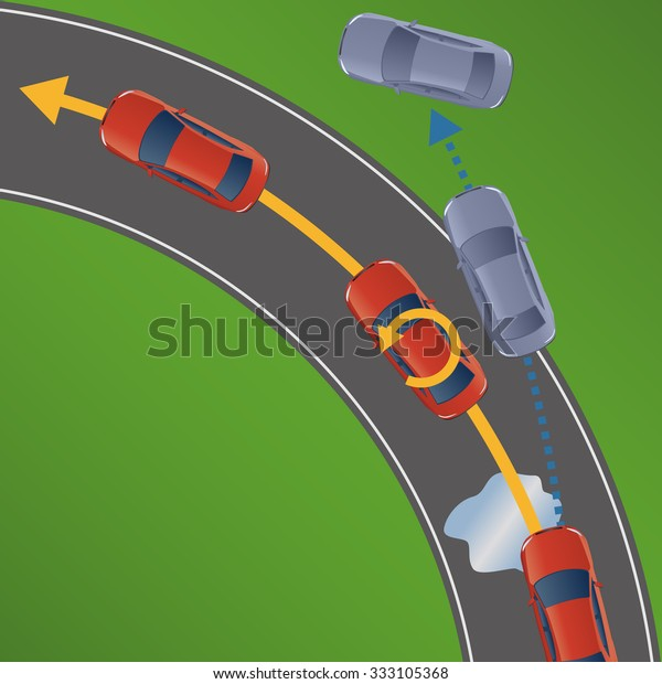 Electronic Stability Control >> Electronic Stability Control Esc Motor Vehicle Stock Vector