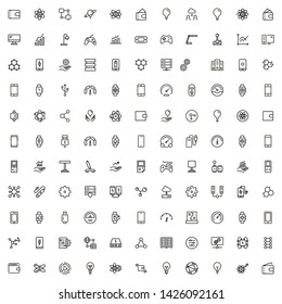 Electronic station line icon set. Collection of high quality black outline logo for web site design and mobile apps. Vector illustration on a white background