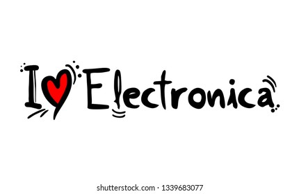 Electronica music style love