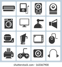 electronics, household icons
