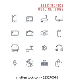 Electronics Outline Icons