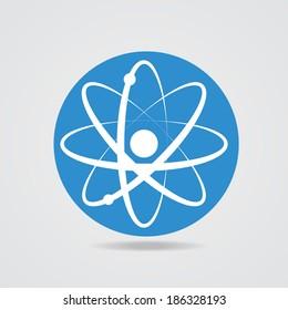 Electronics transform. The atomic model icon