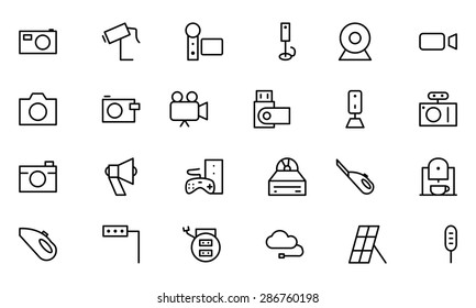 Electronics Vector Line Icons 5
