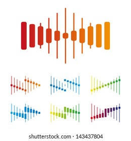 Electronics wave logo template. Design vector icon set. You can use in the electronics ,music, mobile, entertainment, communications and other three-dimensional concept of pattern.