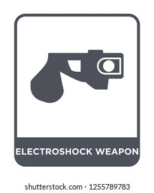 electroshock weapon icon vector on white background, electroshock weapon trendy filled icons from Law and justice collection, electroshock weapon simple element illustration