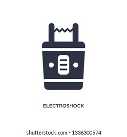electroshock weapon isolated icon. Simple element illustration from law and justice concept. electroshock weapon editable logo symbol design on white background. Can be use for web and mobile.