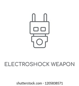 Electroshock weapon linear icon. Electroshock weapon concept stroke symbol design. Thin graphic elements vector illustration, outline pattern on a white background, eps 10.
